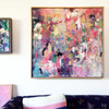 Pinkbite | 93 cm x 93 cm | Framed | Acrylic, water based oil and pastel on canvas