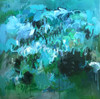 Paperbarks After Rain   Oil and acrylic on linen by Kate Barry  COMMISSION