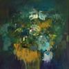 Kate Barry Artist | Drowsy Blooms | 80 cm x 80 cm | Framed