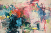 Sweet Skirmish   104 cm x 153 cm   Framed   Ink, acrylic and oil on canvas