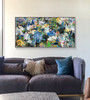 Colour Wrangling | 123 cm x 63 cm | Framed | Oil on board