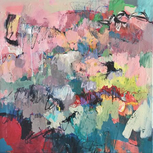 Lark | Acrylic on canvas | 54 cm x 54 cm | Kate Barry Artist