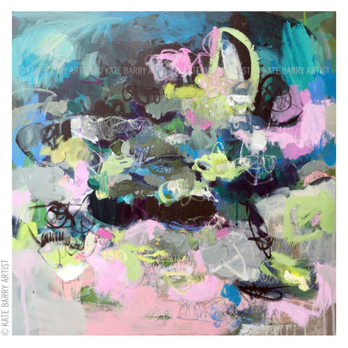 Kate Barry Artist | Scramble | 62cm x 62cm acrylic on canvas | Limited edition print available