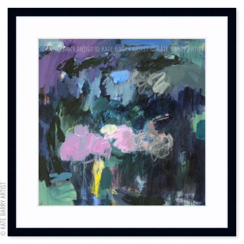 Still Beneath limited edition art print | Black | Kate Barry Artist dark blues