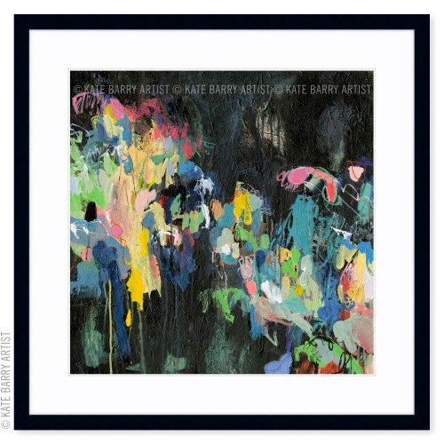 Through the Windscreen limited edition art print | Black | Kate Barry Artist bright colours, paint drips