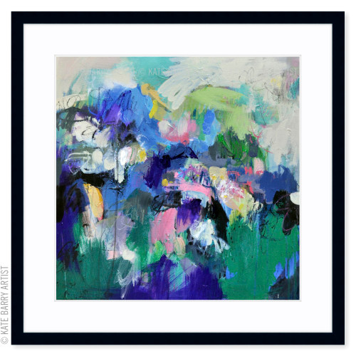 Deflection limited edition art print | Black | Kate Barry Artist bright colours, paint drips