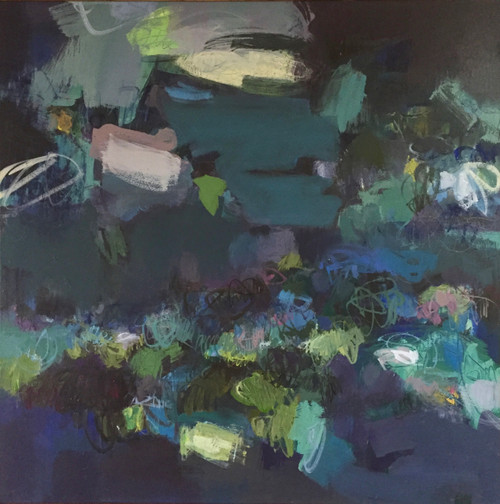 Aerial Blue | Acrylic on canvas by Kate Barry
