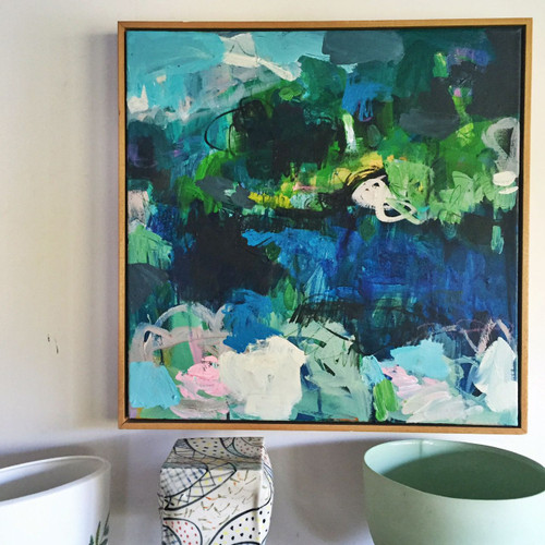 Surge in situ | Acrylic on canvas by Kate Barry