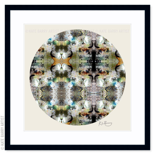 Duck Wing original digital work on neutral with black frame | Kate Barry Artist