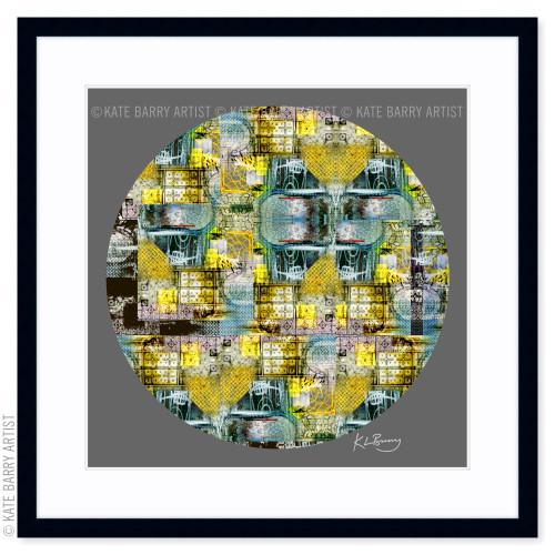 On the Run original digital work on grey with black frame   Kate Barry Artist