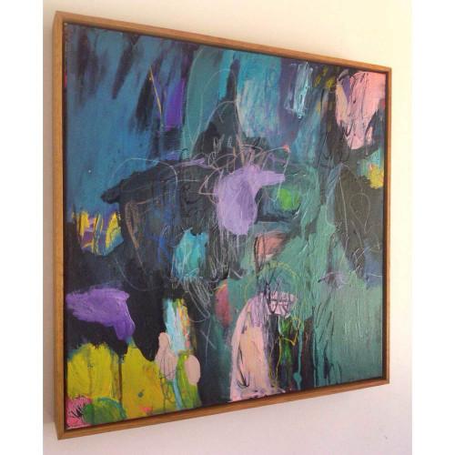 Kate Barry Artist   Blue Heart   100 cm x 100 cm   Acrylic on canvas