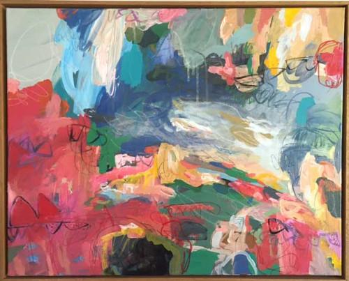Kate Barry Artist   Circus   64 cm x 79 cm   Acrylic on canvas