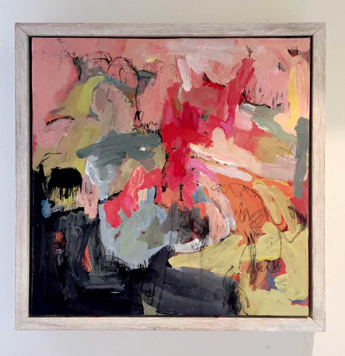 Kate Barry Artist | flaxen | 45 cm x 45 cm | Acrylic on canvas