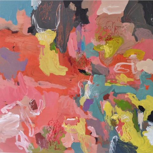 Kate Barry Artist   Summer    104 cm x  104 cm   Acrylic on canvas