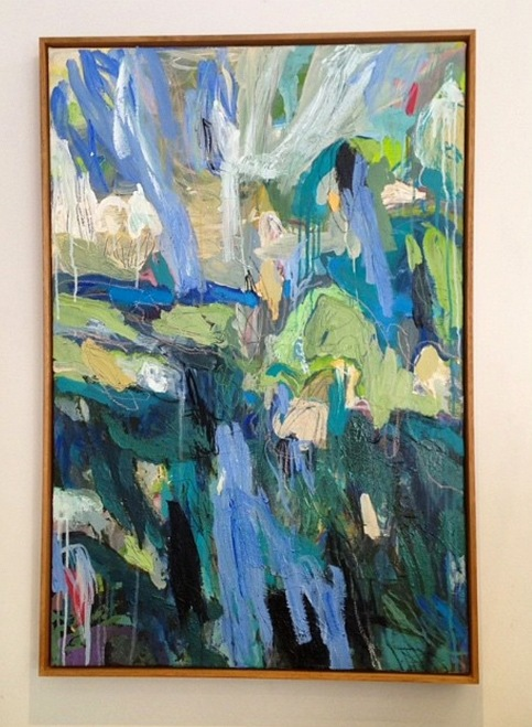 Kate Barry Artist | Blue Gums |  100 cm x  60 cm | Acrylic on canvas