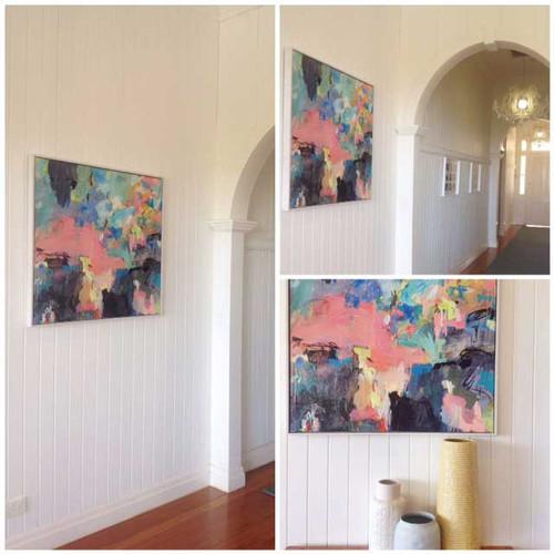 Kate Barry Artist | Spray |  40 cm x 40 cm | Acrylic on canvas