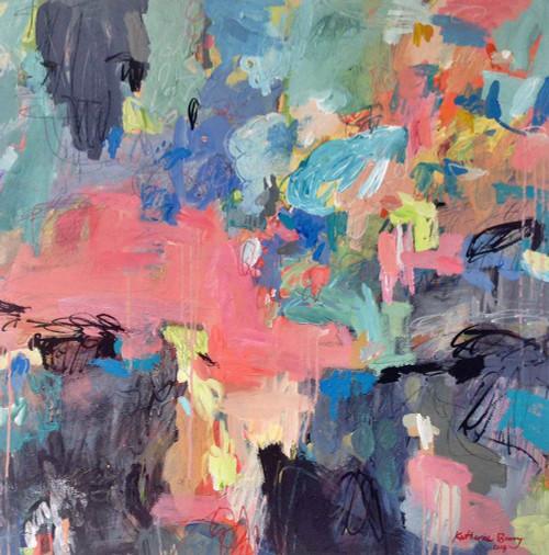 Kate Barry Artist | You're all Talk |  87 cm x 87 cm | Acrylic on canvas