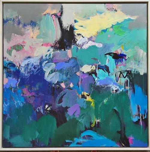 Kate Barry Artist | The Jam |  85 cm x 85 cm | Acrylic on canvas