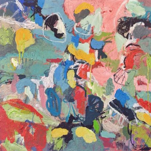 Kate Barry Artist   Camille    54 cm x 54 cm   Acrylic on canvas