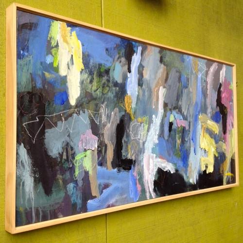 Kate Barry Artist | Through the Trees |  50 cm x 85 cm | Acrylic on canvas