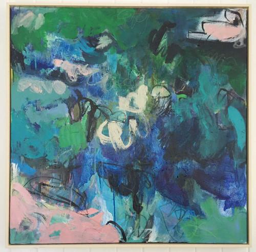 Kate Barry Artist   Verve    85 cm x 85 cm   Acrylic on canvas