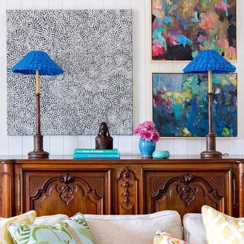 Kate Barry Artist | Summer Rain and The Perfect Storm  |  49 cm x 64 cm | Acrylic on canvas | Featured in Queensland Homes Magazine
