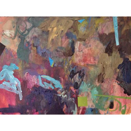 Kate Barry Artist | Summer Rain and The Perfect Storm  |  49 cm x 64 cm | Acrylic on canvas