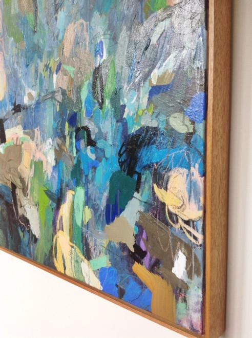 Kate Barry Artist | Polly and Dan |  85 cm x 85 cm | Acrylic on canvas