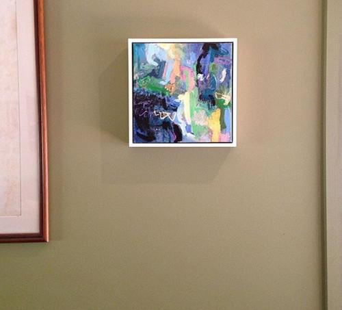 Kate Barry Artist | The Gorge |  28 cm x 28 cm | Acrylic on canvas