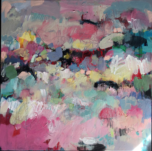 Spring glass | Acrylic on canvas by Kate Barry