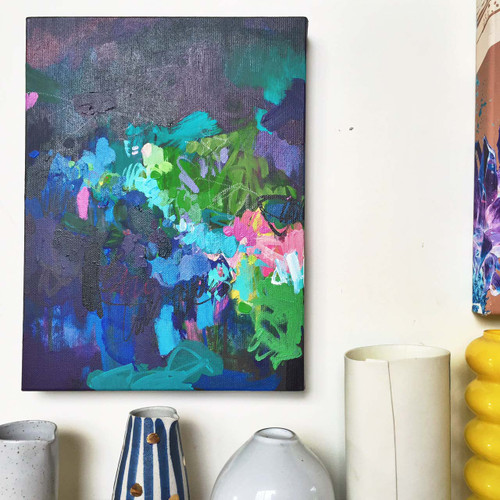 Blossie in situ   Acrylic on canvas by Kate Barry