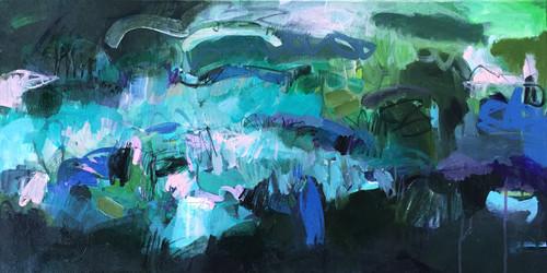 Landscape 1  | Acrylic on canvas by Kate Barry