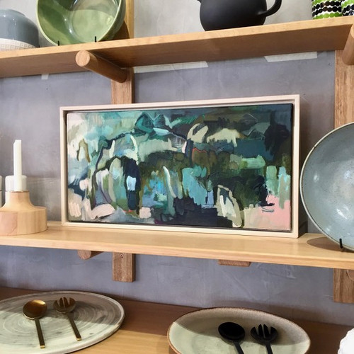 Nestled Landscape in situ    Oil and acrylic on canvas by Kate Barry