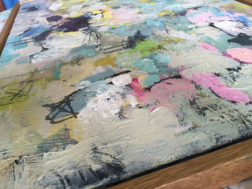Fleece 2 (detail) | Acrylic on canvas by Kate Barry