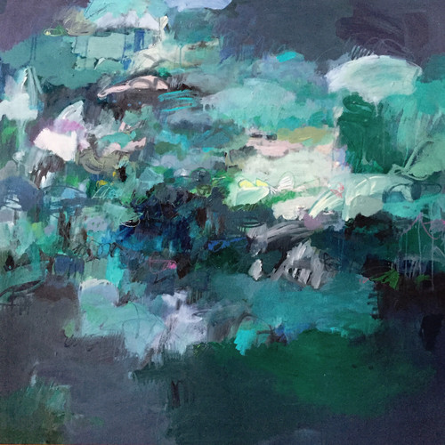 Deluge | Oil, acrylic and mixed media on canvas by Kate Barry