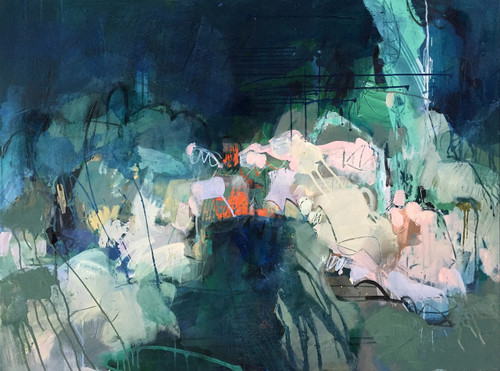Tunnel | 94 cm x 124 cm | Framed | Acrylic and water based oil on linen