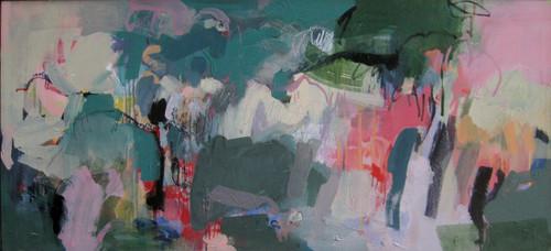 Flourishing  | 54 cm x 104 cm | Framed | Acrylic and water based oil on canvas