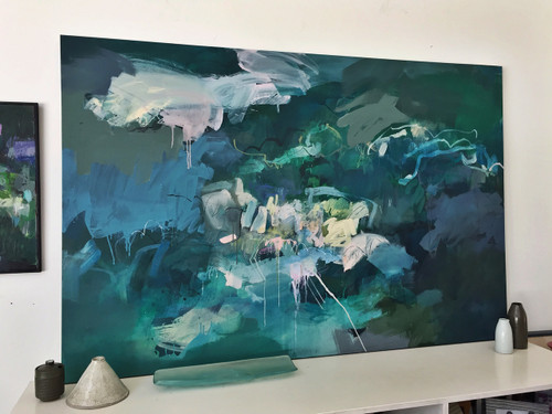 Ocean Current  | 124 cm x 185 cm | Framed | Acrylic and water based oil on canvas