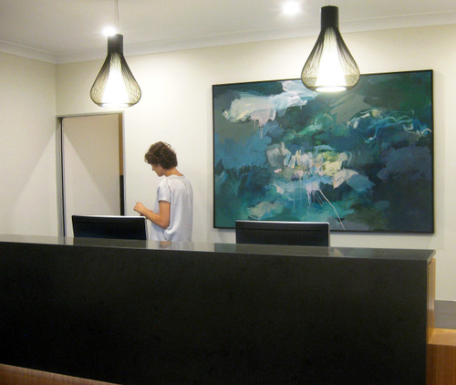 Ocean Current    124 cm x 185 cm   Framed   Acrylic and water based oil on canvas