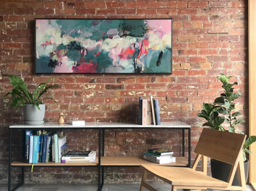 Thrive  | 64 cm x 156 cm | Framed | Acrylic and water based oil on linen
