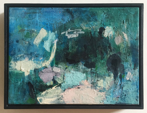 Blue Gauze  | 33 cm x 43 cm | Framed | Acrylic and water based oil on canvas
