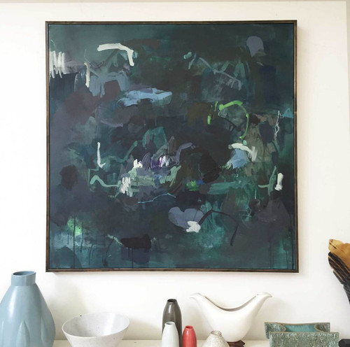 Ponder | 104 cm x 104 cm | Framed | Acrylic and water based oil on canvas