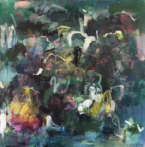 Bird   125 cm x 125 cm   Framed   Acrylic and water based oil on canvas