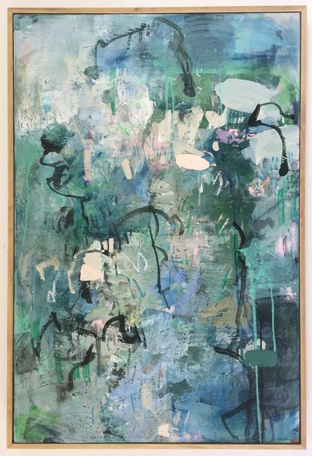 Sage   94 cm x 62 cm   Framed   Oil and acrylic on canvas