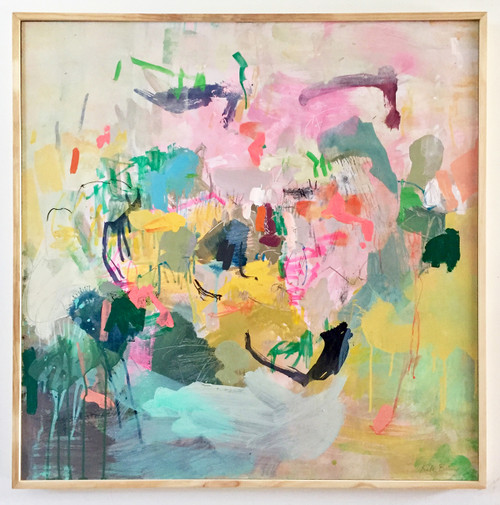 Hooked On You | 85 cm x 85 cm | Framed | Oil, acrylic and pastel on board