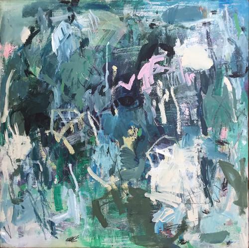 Blue Gum   49 cm x 49 cm   Framed   Oil and acrylic on canvas