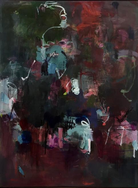 Velveteen | 104 cm x 79 cm | Framed | Oil and acrylic on canvas