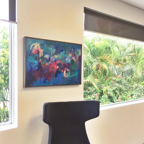 Blue Horizons    53 cm x 79 cm   Framed   Oil and Acrylic on canvas
