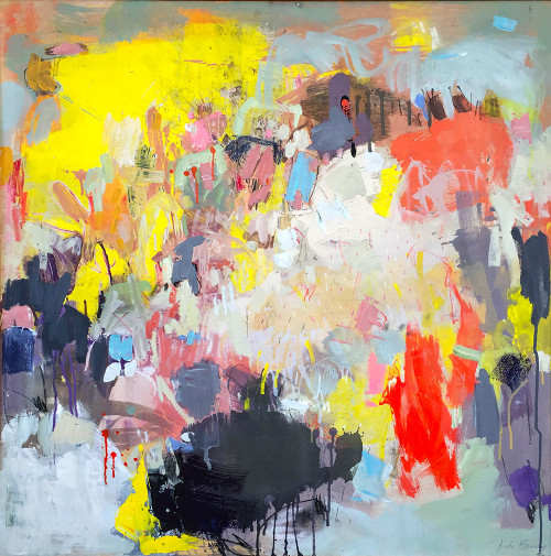 Coral  | 93 cm x 93 cm | Framed | Water based oils, acrylic and pastel on board