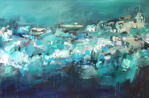 Kate Barry Artist | Tempestuous Blue | 105 cm x 155 cm